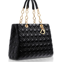 DIOR SOFT Dior Soft shopping bag in black leather