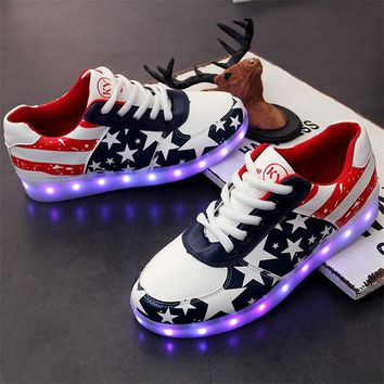 DCKL9 Stylish Bright Colorful Creative Casual Shoes Multi-color Lightning Lights [8678847821]
