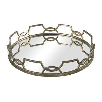 Sterling Iron Scroll Mirrored Tray | Overstock.com Shopping - The Best Deals on Serving Platters/Trays