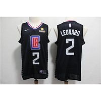 2019-2020 Los Angeles Clippers 2 Kawhi Leonard Black Swingman Jersey