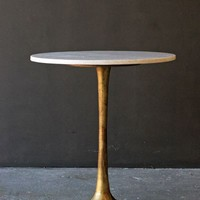 Round Brass Coffee Table With Marble Top - View All - Home Accessories