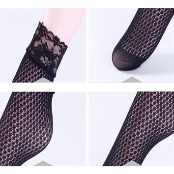 Candy Color Fashion Women Lady Girl's Lace Ankle Mesh Fishnet Net Socks