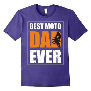Mens Best Dad Ever T Shirt - Vintage Moto Shirt