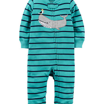 Carter's® Boys Newborn Zip-Up Cotton Sleep & Play