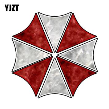 YJZT 14CM*14CM Evil RESIDENT EVIL UMBRELLA CORPORATION Lnterest Reflective Car Sticker C1-7533
