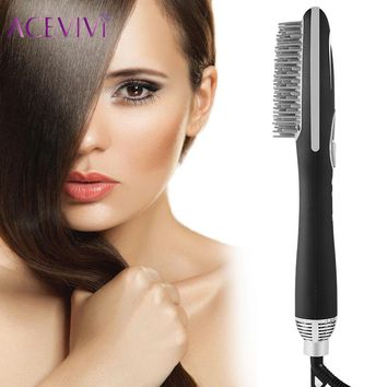 ACEVIVI Electric 3 in 1 Hair Dryer Detangling Comb Brush With Anion Sprayer LCD Display Salon Hair Styling Tool EU/UK/US Plug
