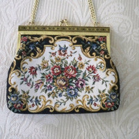 Vintage Purse Formal Tapestry Evening Purse