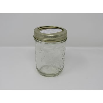 Unbranded/Generic Canning Jar Fruit Embossed 3in L x 3in W x 4in H Vintage Glass -- Used