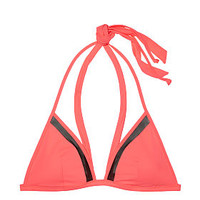 Mesh Halter Wrap Triangle Top - PINK - Victoria's Secret