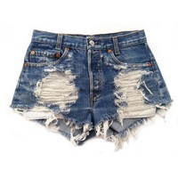 Women's Vintage Levi's Distressed Stone Dreamer High Rise Cut-Off Shorts