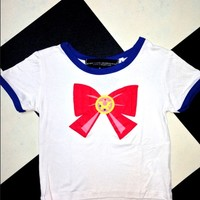 SWEET LORD O'MIGHTY! SAILOR SCOUT RINGER TEE