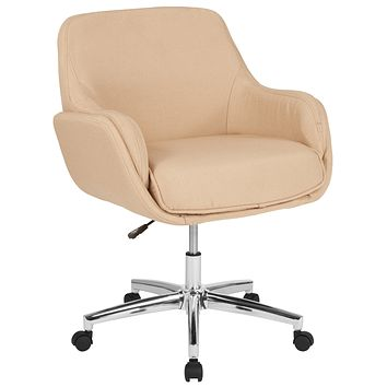 Rochelle Home and Office Upholstered Mid-Back Molded Frame Chair