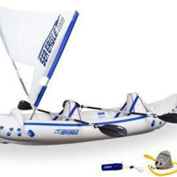 Sea Eagle 330 Inflatable Kayak Includes QuikSail Seats Paddles and Pump