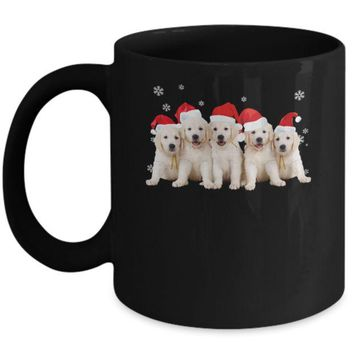 DCKIJ3 Funny Golden Retriever Puppies Christmas Dog Gift Mug