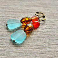 Tribal  Earrings,Boho Earrings, Boho Tribal, Casual Jewelry, Boho Chic Earrings, Topaz Earrings, Turquoise Earrings, Gemstone Earrings