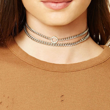 Curb Chain Choker Set