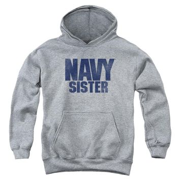 Navy - Sister Youth Pull Over Hoodie