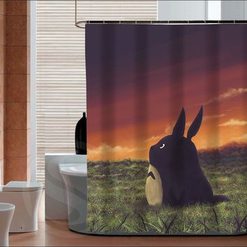 New Arrive My neighbor totoro Personalized Custom Shower Curtain Bath Curtain Waterproof curtain for the bathroom
