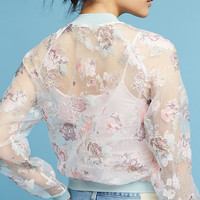 Textured Floral Bomber