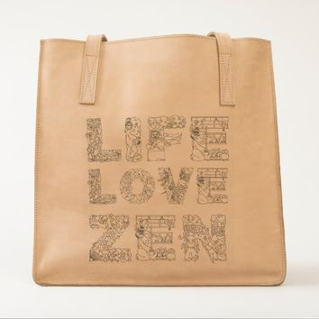 Life, Love, Zen UBUNTU collection Tote