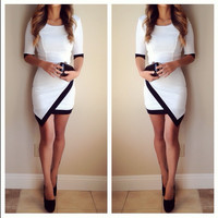 Asymmetrical Lucy Dress - White