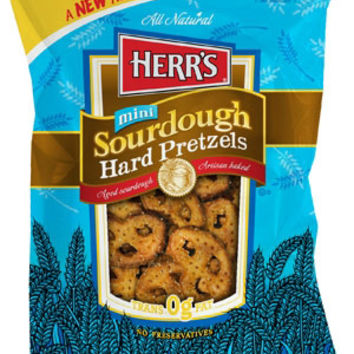Herr's Mini Sourdough Hard Pretzels 16 oz Bags - Pack of 7