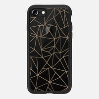 Abstraction Outline Brown Transparent iPhone 7 Case by Project M | Casetify