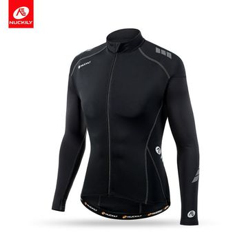 NUCKILY Summer Comfortable Fit Cycling Apparel 80% Nylon and 20% Spandex Long Sleeve Bicycle Jersey For Men and Women