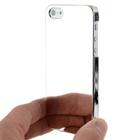 Ultra Slim Logo Hard Case Cover Silver Chrome for Apple iPhone 5 5S Att, Sprint & Verizon