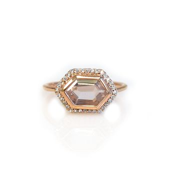 14kt Rose Gold Rose Quartz Royale Ring