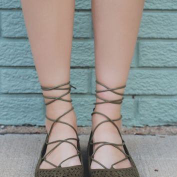 Endless Love Flats - Olive