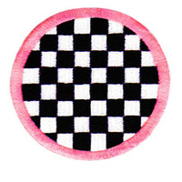 Large Cool Checker Patch 8cm Applique