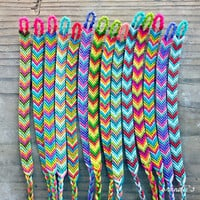 Custom Chevron Friendship Bracelets ((choose your own colors))