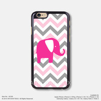 Chevron pink elephant iPhone 6 6Plus case iPhone 5s case iPhone 5C case iPhone 4 4S case 186
