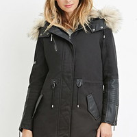 Faux Fur Padded Parka