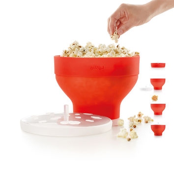Microwaveable Popcorn Maker Pop Corn Bowl With Lid Microwave Safe