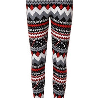 Snow Cherry Fleece Leggings | IWEARSIN