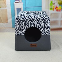 Dog House Cat Bed Puppy Bed Blanket Cat House Dog Bed Mat Kennel Pet Totoro Bed Sofa Removable Pillow Chihuahua House Mat Warm