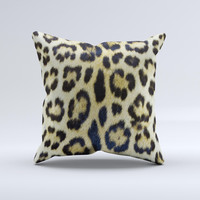 Real Leopard Hide V3 ink-Fuzed Decorative Throw Pillow