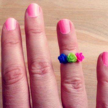 Handmade Floral Above the Knuckle / Adjustable Ring