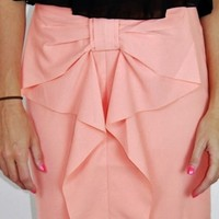 Bow-Dacious Skirt- Blush Pink