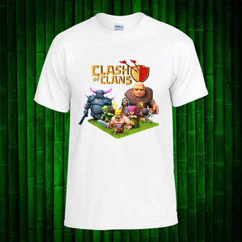 Clash Of Clans Poster art - Clash Of Clans  t shirt youth - Clans Poster art shirt funny birthday - Tshirt Youth Kids - tshirt Adult Unisex