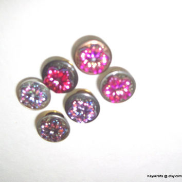 Pink Button Tacks Thumbtacks Push Pins for Bulletin Board Cork Board Tack Board Pin Board on Etsy Office Kitchen Dorm Girls Teens Flowers