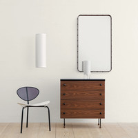 Adnet Rectangular Mirror by Jacques Adnet