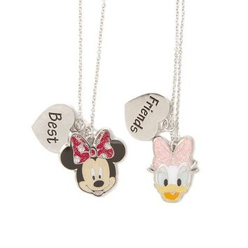 Minnie Mouse and Daisy Duck Best Friends Pendant Necklaces Set of 2 | Claire's