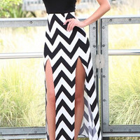 Black Wave Print Spaghetti Strap  Backless Maxi Dress