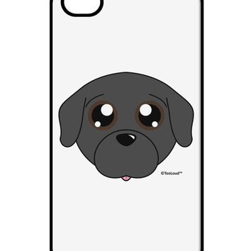 Cute Pug Dog - Black iPhone 4 / 4S Case  by TooLoud