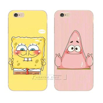 Best Friend SpongeBob Patrick Protective Phone Case Cover For Apple iPhone 8 X 4 4S 5 5S SE 5C 6 6S 7 Plus 6SPlus