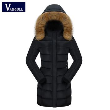 New Women Winter Large Fur Collar Hooded Woman Parka Coats Long Thick Jacket Four Colors female outerwear Plue size 3XL