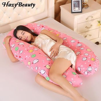 HazyBeauty U Type Pregnancy Pillows Body Pillow for Pregnant Women Best For Side Sleepers Removable Big Pregnancy Pillow